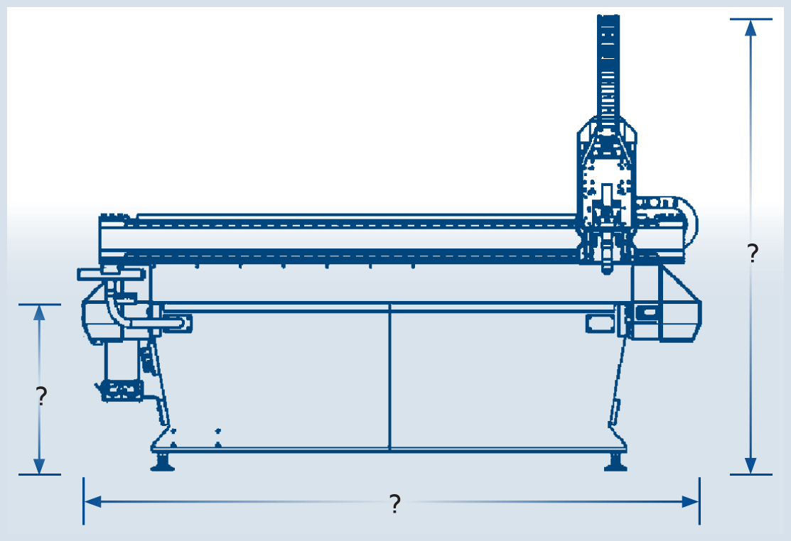 MultiCam 3000 Series CNC Plasma Frontview Schematic