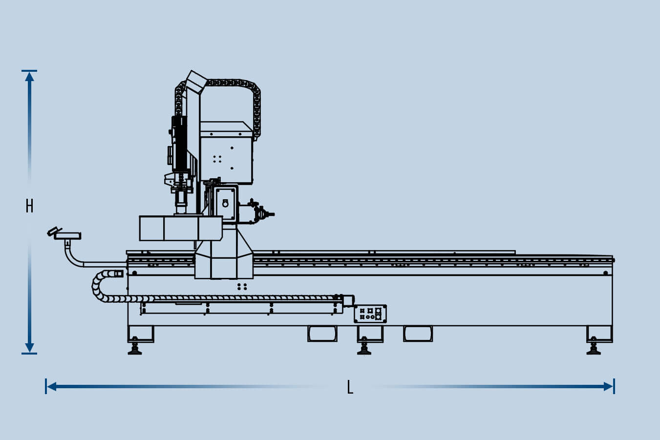 MultiCam 5000 Series CNC Router Height and Length